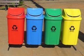 Lixeiras usadas na coleta seletiva de Lixo